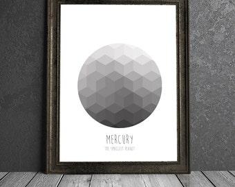 Mercury - The Smallest Planet - 8x10 DIGITAL PRINTABLE PDF