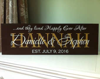 Wedding Gift, Wedding Signs, Personalized Last Name Sign, Wedding Welcome Sign, Custom Family Sign, Fairy Wedding, Disney Wedding, Wooden
