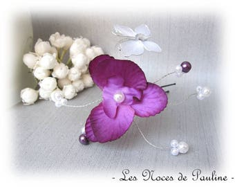 Purple and white wedding Orchid and Butterfly Esther PIC
