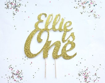 Custom cake topper,One cake topper, Gold glitter cake topper,first birthday, pink and gold birthday, cake topper, happy birthday, I am one