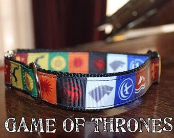 Game of Thrones Collar. Includes Metal Hardware!