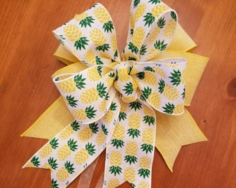 Pineapple and Yellow Bow
