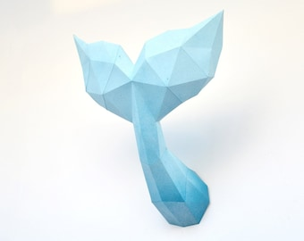 tail of a whale papercraft