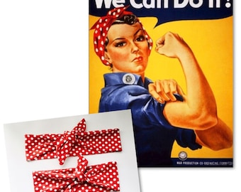 Rosie The Riveter Headband Set