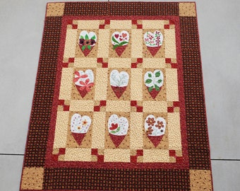 Floral Hearts Quilt