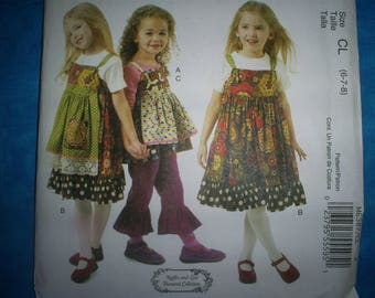 McCalls 6387 Girl's Size 6-7-8  Summer outfits.