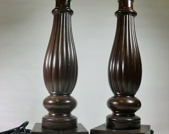 Table Lamps Mahogany Wood