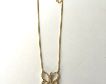 Gold filled necklace with butterfly pendand