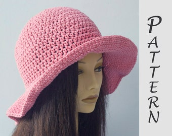 Wide Brim Sun Hat Crochet Pattern, Summer Crochet Pattern,  Hat Pattern,  Easy Pattern, Instant Download, Summer Hat PDF Pattern