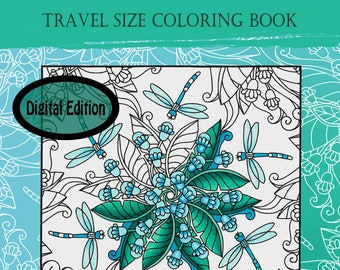 """Digital Edition Whimsy Doodle Kaleidoscopes travel size 8.25""""x6"""" PDF coloring book"""