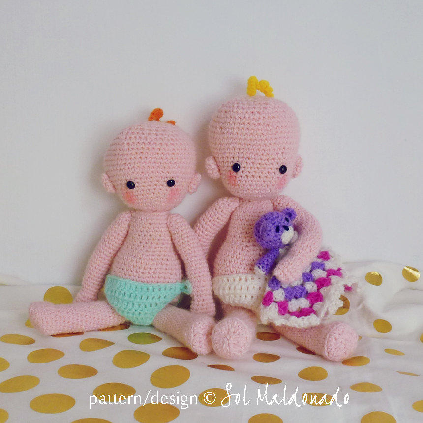 Baby doll crochet pattern amigurumi pdf instant download from this is a digital file dt1010fo