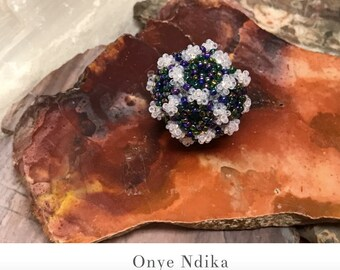 Stratified Sphere Beaded Bead