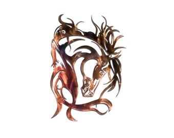 Elegant Horse Metal Art