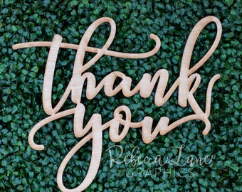 "14"" Wood Thank You Photo Prop Sign 