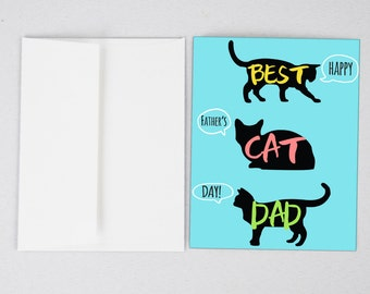 Cat dad fathers day etsy best cat dad fathers day card funny fathers day card fathers day card sciox Gallery