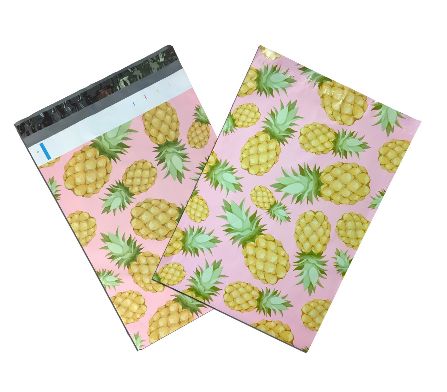 100Pack 10x13 Beautiful Pink Pineapple FLAT POLY Mailers