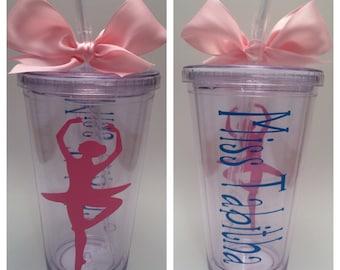 Dance Gifts, Ballet Gift, Dance Recital Gift, Dance Teacher Gift, Personalized Dance Gift, Ballerina Gifts, Ballerina Tumbler, Ballet Dancer