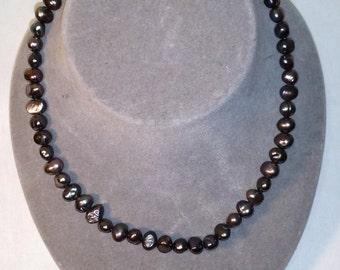 Elegant Purple Stone Necklace 17 inch