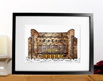 Liverpool Philharmonic print - Liverpool music hall print - Music lovers print - Philharmonic Hall - musical gift - music graduation