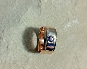 Amethyst colored Zirconia ring
