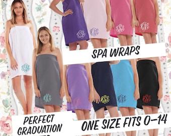 College Bath Wrap , Towel Wrap, Spa Wrap, Bath Wrap , Shower Wrap, Waffle Spa Wrap, Graduation Gift , College Graduation , Monogrammed Wrap