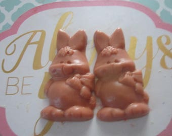 Scented Wax Melts - 3 Easter Bunny - Wax Melt Warmer -4oz