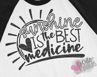 Beach SVG, Sunshine is the best medicine svg design, mermaid svg, Cruise svg sayings, summer vacation svg, summer svg, SoCuteCuttables