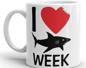 Shark Week Mug - Shark Lover - Funny Shark Week Gift Coffee Mug 11oz / 15oz