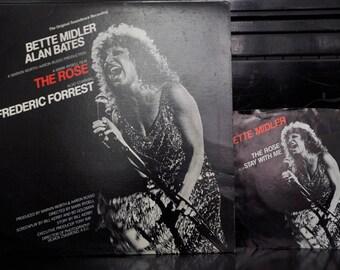 """Soundtrack LP - The Rose, Bette Midler, Alan Bates, 12"""" + 7"""""""