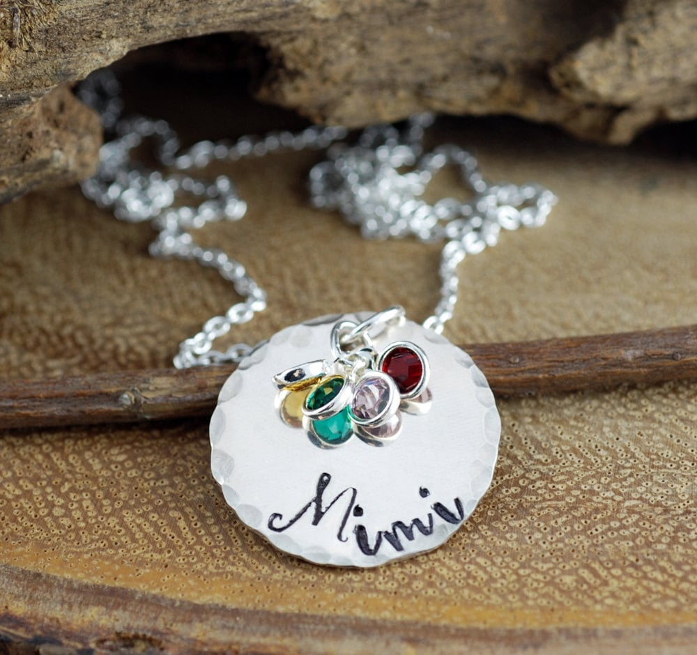 personalized grandma necklace grandmother necklace grandmother s