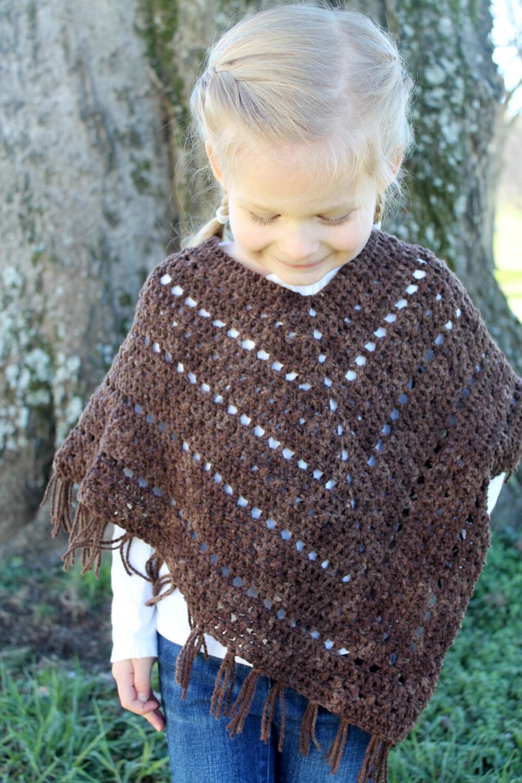 Crochet Poncho PATTERN Bohemian Poncho Pattern fringes