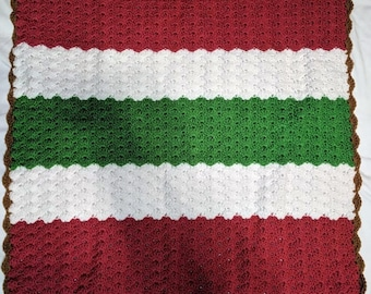 Baby Blanket Neapolitan Ice Cream Sandwich Pink White Green Brown Colors