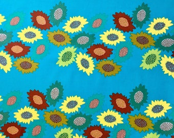 Garden Party by FreeSpirit Sunflowers Fabric Westminster Fibers Receiving Line by Anna Maria Horner Blue Yellow Green Red