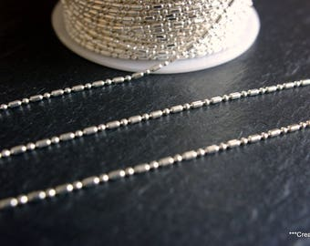 10 meters of brass metal silver ball chain