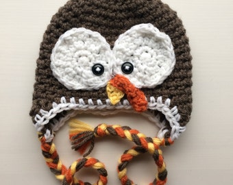 0-3m Crochet Hat | Tom The Turkey - Ready to mail