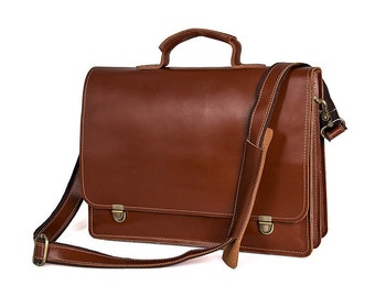 Leather Briefcase, Men's Leather Briefcase, Brown Briefcase, Leather Attache, Leather Attache case, Brief Case Men, Leather Laptop Bag