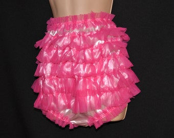 Frilly bum sissy satin panties - silky satin princess posing panties...wonderful silky pink pantie fun - Sissy Lingerie