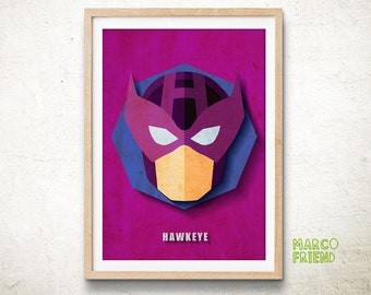 Avengers Hawkeye Art Print Poster Marvel Superhero Wall Art Kids Decor Home Decor Gifts [361]