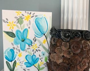 Blue Tulips Watercolor