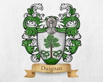 Duignan Family Crest - Print