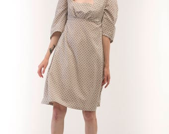 Minimal ethno dress / Linen dress / Casual dress / Boho bress / Ethno dress / Dress with two pockets / Low-cut dress / Cool