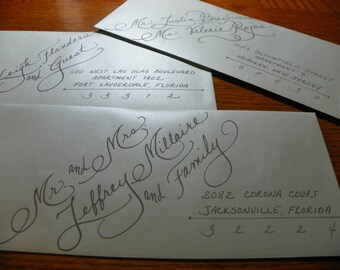 Custom Hand Penned Calligraphy - Emily Font