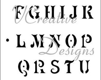 Antique Upper alphabet stencil