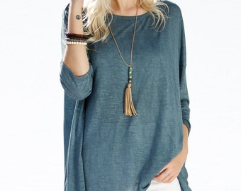 3/4 Sleeves top with rear unique detail