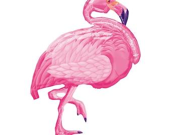 "Pink Flamingo 35"" Foil Balloon party decoration"