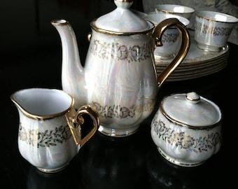 Kudo Toki China Lusterware Tea set