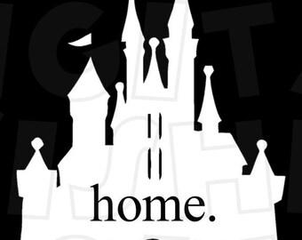 Home for dark Disney World Magic Kingdom Cinderella castle Digital Iron on transfer Image clip art Image INSTANT DOWNLOAD DIY for Shirt