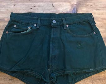 Vintage denim 501 shorts - green