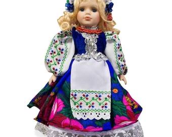 "12.5"" Olya Handmade Ukrainian Traditional Dress Cloth Doll"