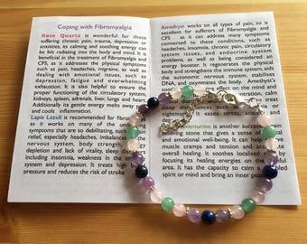 Fibromyalgia, CFS/ME and Chronic Pain one of a kind Gemstone Bracelet